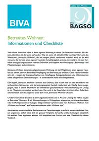 Betreutes Wohnen: Informationen und Checkliste