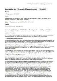 Gesetze im Internet. Pflegezeitgesetz